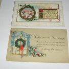 2 Christmas Greeting Postcards C63