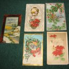 Lot of 5 Christmas Postcards c100