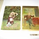 Lot of 2 Vintage Romance Postcards R-8