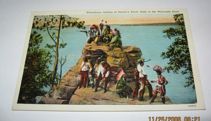 Winnebago Indian Postcard Wisconsin Dells,Wi. W12