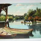 Boating Washington Park,Milwaukee,Wis. Postcard W33