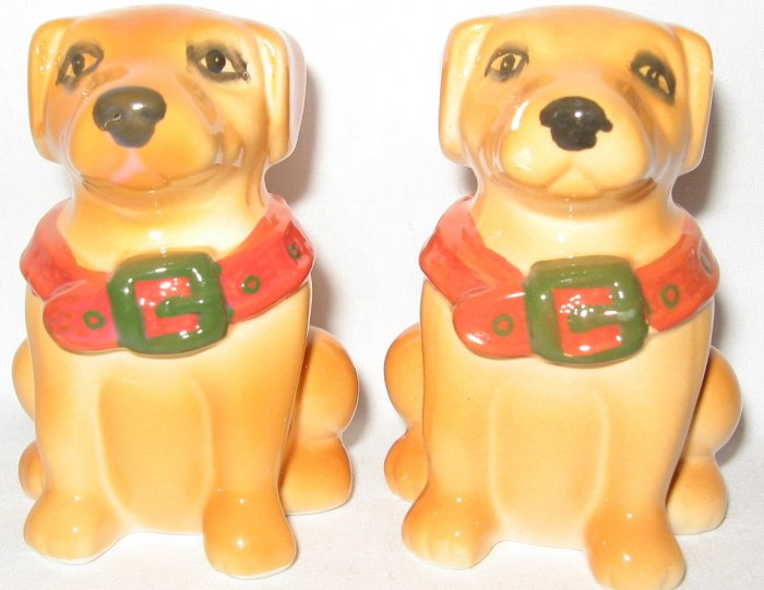 Brown Dogs Salt and Pepper Shakers