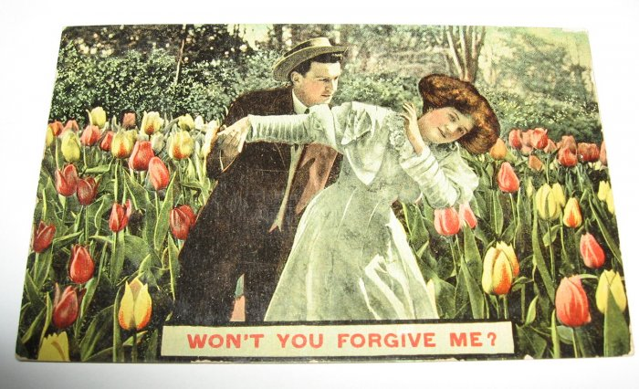 Won't You Forgive Me Romantic Postcard R22