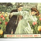 Won't You Forgive Me Romantic Postcard R22