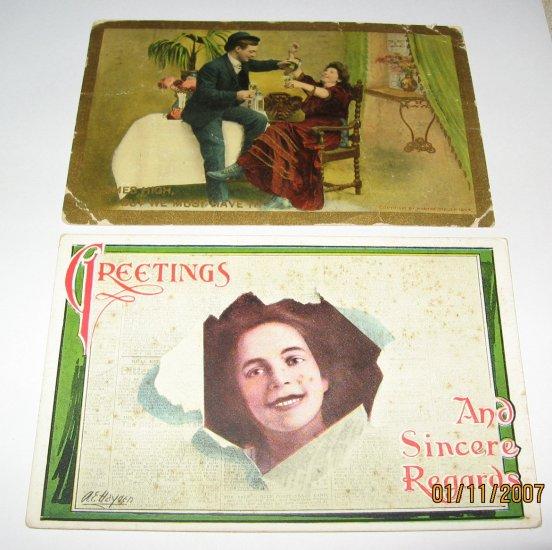 2 Romantic  Postcards R27