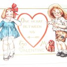 To My Valentine Embossed Postcard R34