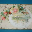 Friendly Greeting Roses Vintage Postcard G2