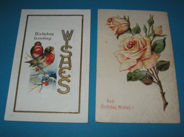 Birthday Postcards Birds and Roses B4