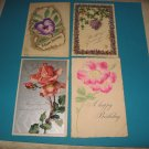 Birthday Postcards flowers lot of 4 B6