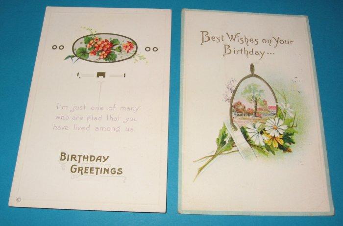 Birthday Postcards Flowers and Wishbone B7