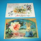 Birthday Postcards Forest Scene and Rose B27