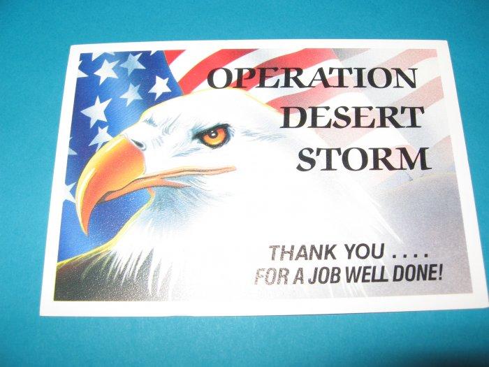 Operation Desert Storm Military Postcard