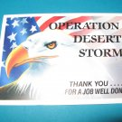 Operation Desert Storm Military Postcard