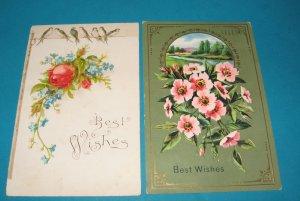 Roses and Birds German Greetings postcards G25