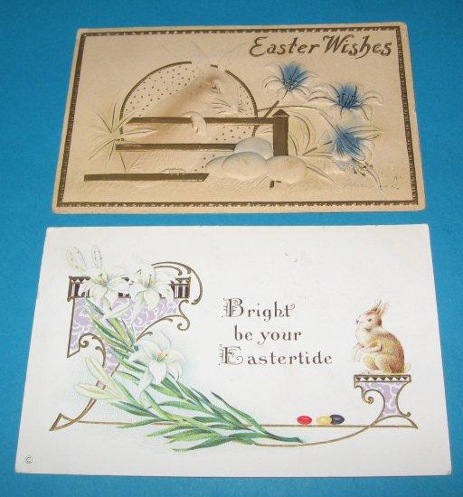 Easter postcards bunnies E24