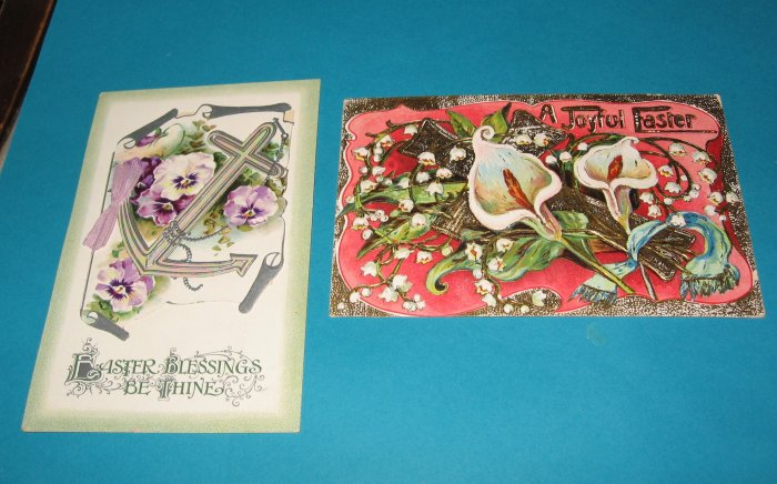 German Easter Postcards E 26 lot of 2