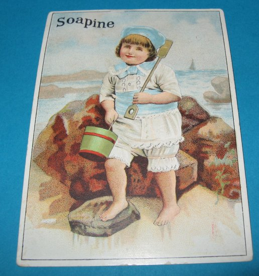ANTIQUE AD CARD LATE 1800s SOAPINE SOAP