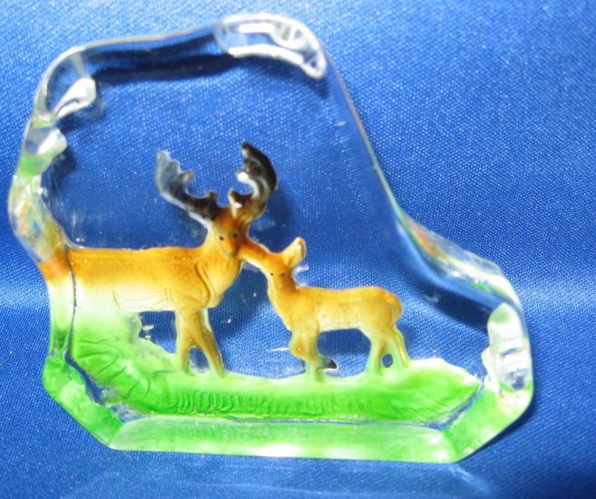 2 Deer Crystal Figurine