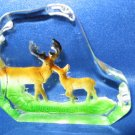 2 Deer Crystal Figurine