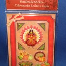 Turkey and pumpkins Thanksgiving Scrapbook stickers