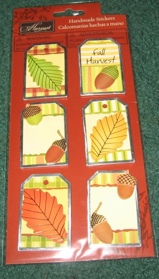 Acorns and Leaves Thanksgiving Scrapbook stickers