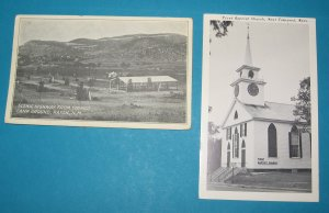 2 black and white postcards N.M. and Mass.