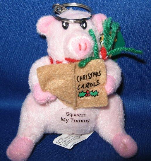Pink Pig Carolin Critters musical keychain
