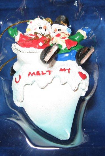 U melt my heart snowman ornament