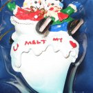 U melt my heart snowman ornament