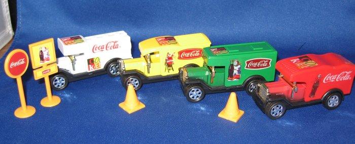 Coca Cola Plastic Truck Set