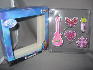 Hannah Montana  Christmas ornaments 5 pieces