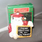 Santa Christmas teacher ornament