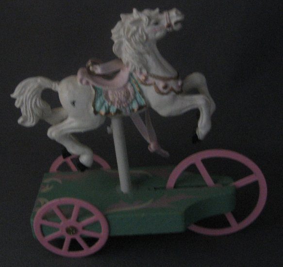 Carousel horse on cart ornament