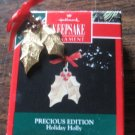 Christmas ornament Hallmark Keepsake Precious Edition Holiday Holly