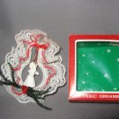 Christmas ornament angel in lace wreath