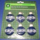 Ho Ho Ho blue Christmas ornament