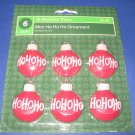 Ho Ho Ho red Christmas ornament