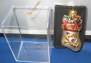 Glass Stocking Christmas  ornament