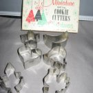 Miniature metal cookie cutters for Christmas
