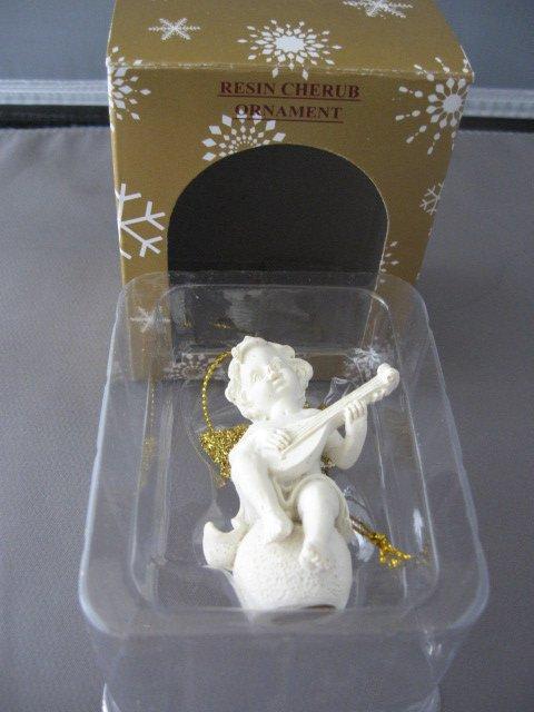 Resin Cherub angel Christmas ornament no. 1