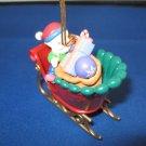 Elf in Sleigh Mistletoe Magic Collection Christmas ornament