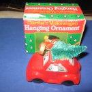 Santas Volkswagen hanging Christmas ornament