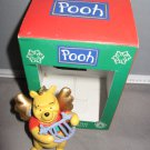 Winnie the Pooh holding harp Christmas ornament