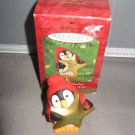 Hallmark Keepsake penguin holding teacher 2000 star Christmas ornament