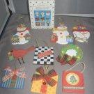Scott's Shop til you drop ornaments set of 9 wood