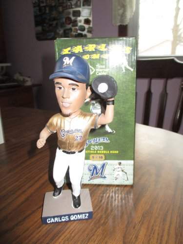 Carlos Gomez 2013 Milwaukee Brewers  Bobblehead
