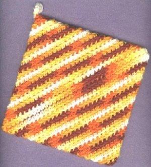 Handmade crocheted hot pad and dishcloth new