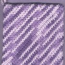 Handmade crocheted hot pad variegated colors 1 new purples