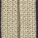 1 handmade crocheted 4-ply cotton yarn dishcloth, cream,  new