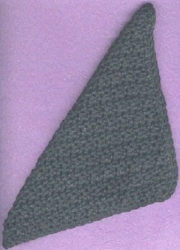 1 handmade crocheted 4-ply cotton yarn dishcloth, black,  new